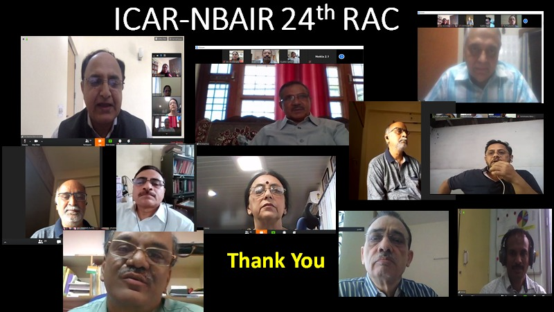 ICAR-NBAIR successfully conducts virtual meet of its 24th Research Advisory Committee meeting on 7th May 2020
