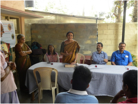 Training for differently abled people on  Introductory biological control awareness programme at Bengaluru