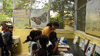 School children visit to Insectarium, NBAIR, Bengaluru on 6.9.2019